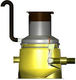 канализационный колодец для отбора проб EuroNOK® DN110...400 с запорным вентилем
