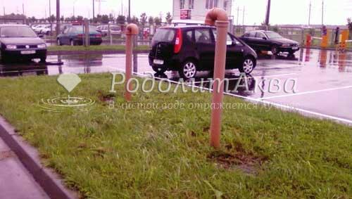 Ливневая канализация на открытом паркинге