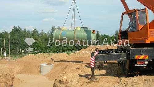 Складской комплекс д. Королев Стан, установка комбинированного бензомаслоотделителя