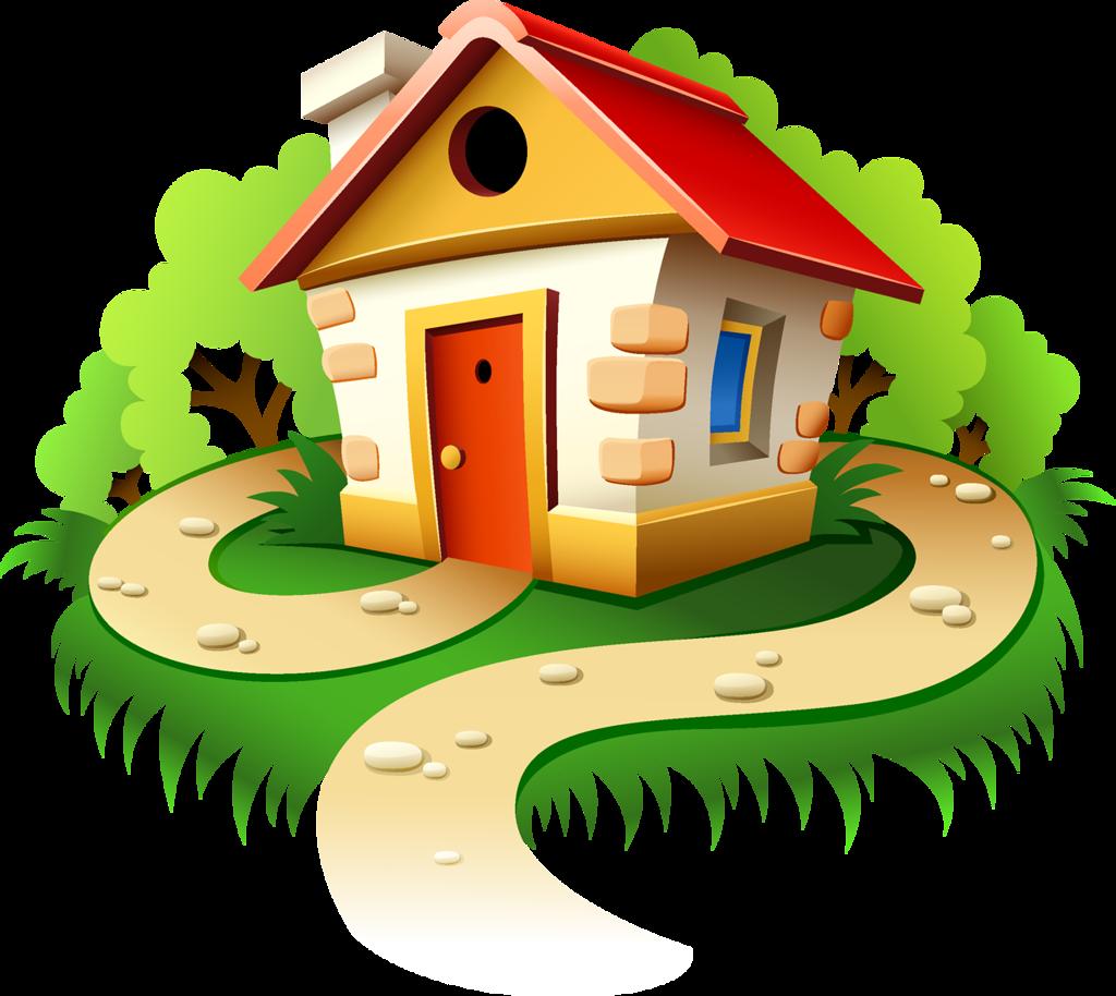 Картинки домов мультяшные